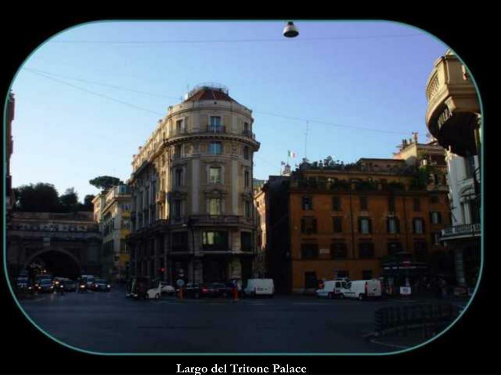 Largo del Tritone Palace
