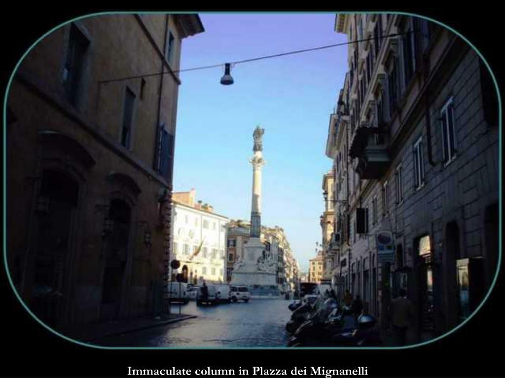 Immaculate column in Plazza dei Mignanelli
