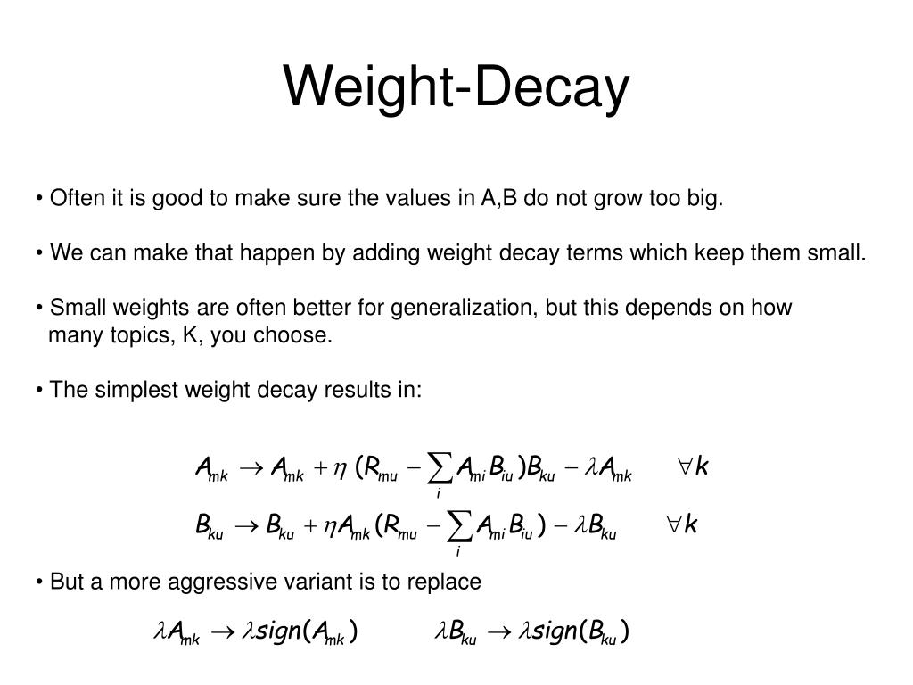 Weight-Decay
