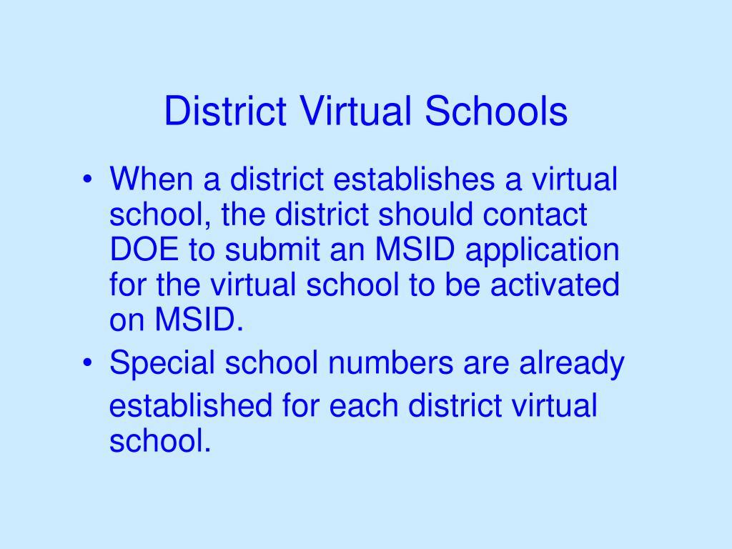 District Virtual Schools