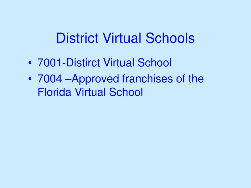 District Virtual Schools