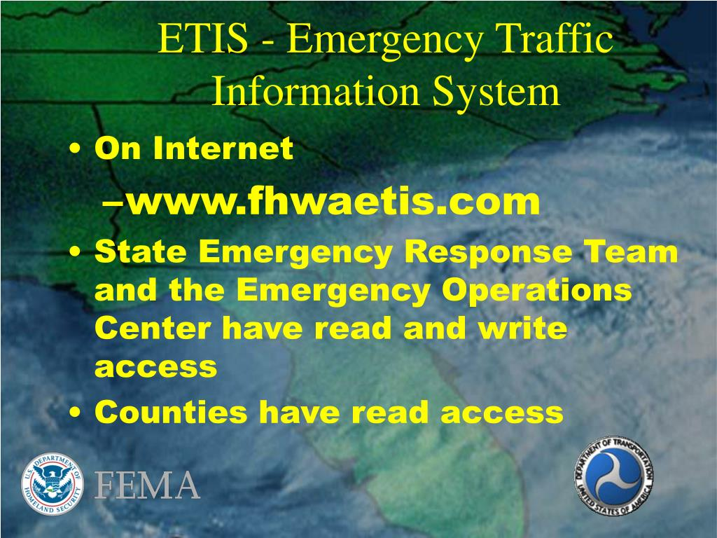 ETIS - Emergency Traffic Information System