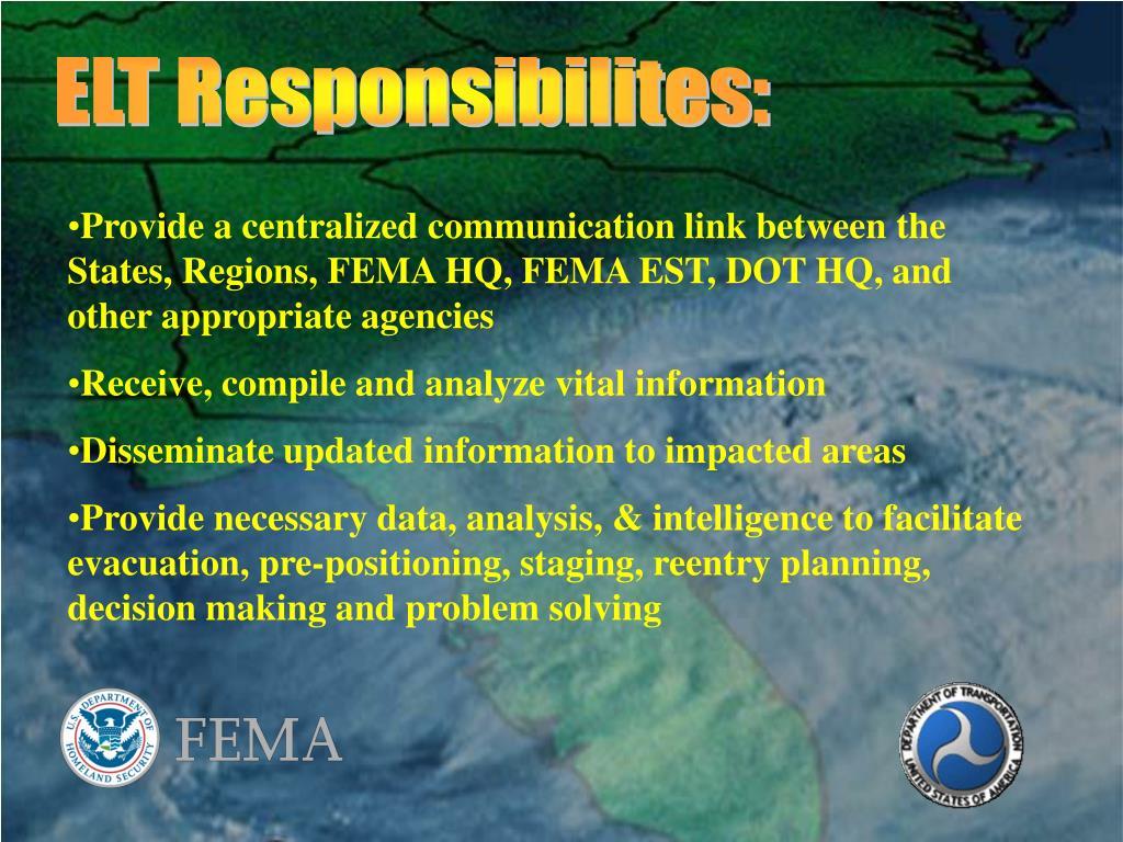 ELT Responsibilites: