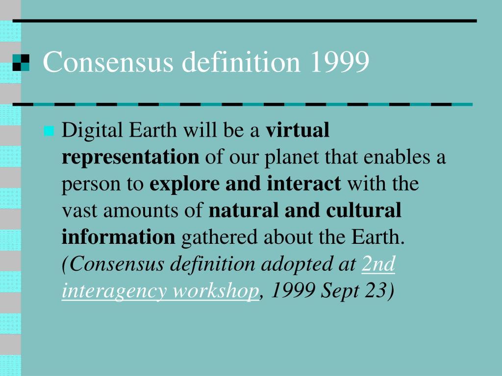 Consensus definition 1999