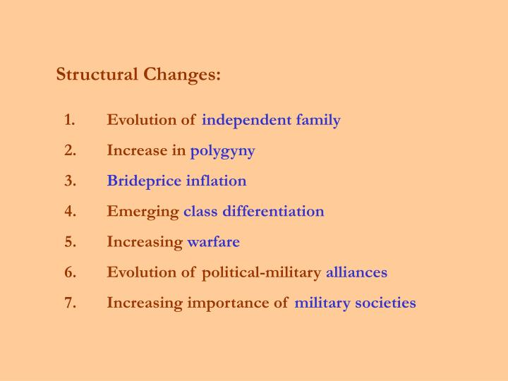 Structural Changes: