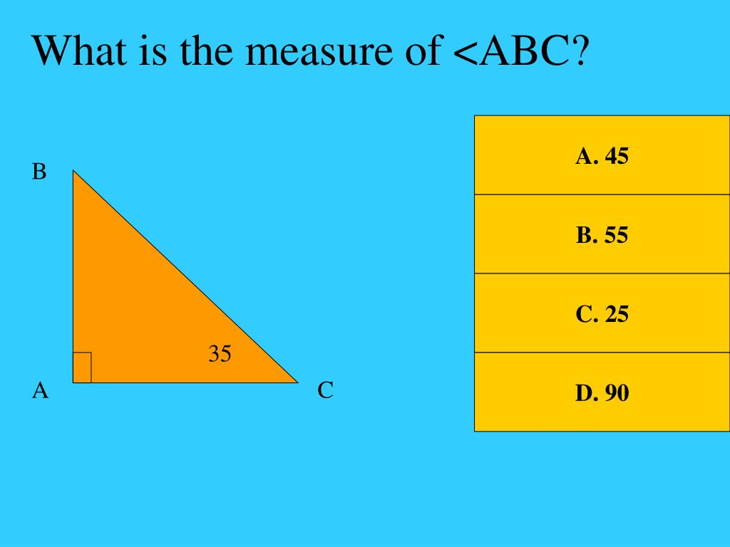 What is the measure of <ABC?