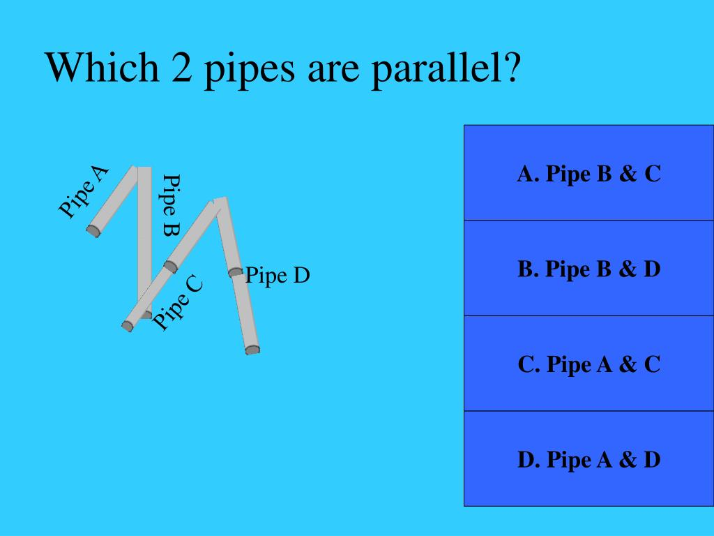 Which 2 pipes are parallel?