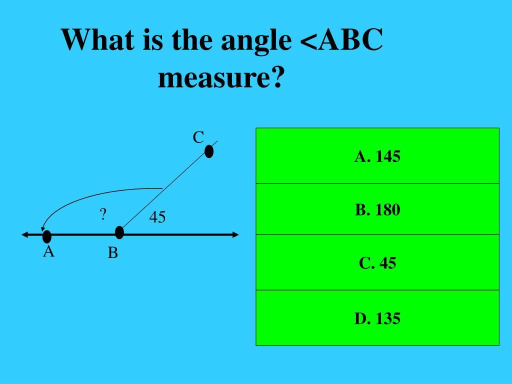 What is the angle <ABC measure?
