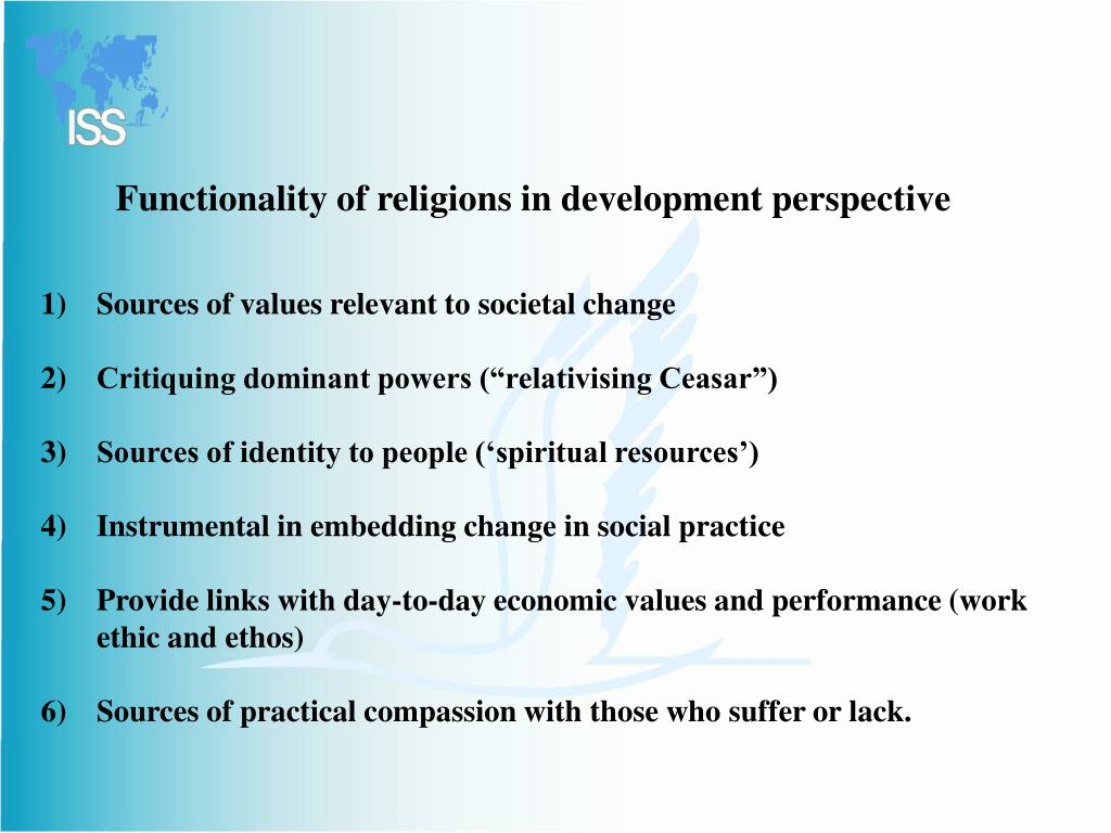 Functionality of religions in development perspective