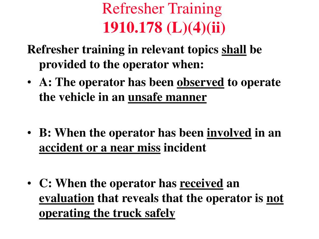 Refresher Training