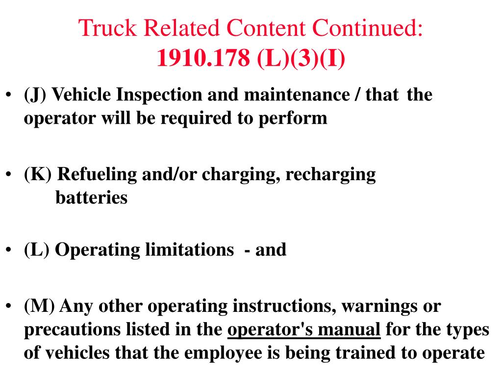 Truck Related Content Continued: