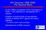 hiv vaccines 1995 2000 the second wave