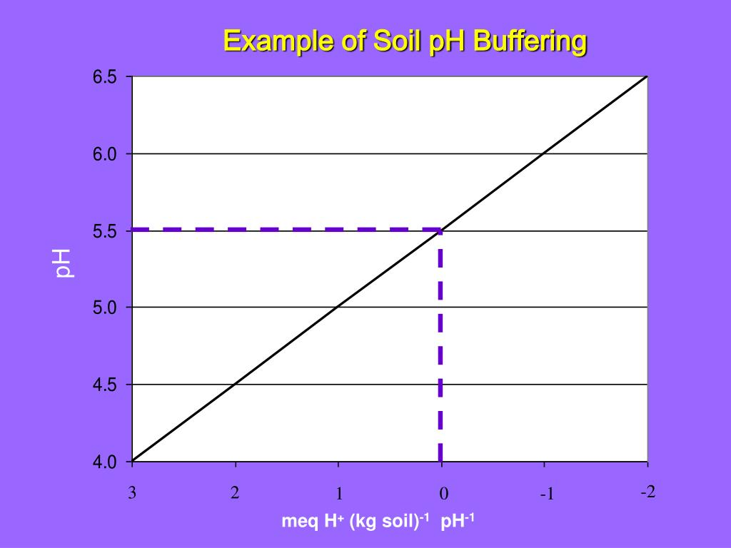 Ppt rapid determination of the ph buffering capacity of for Soil is an example of