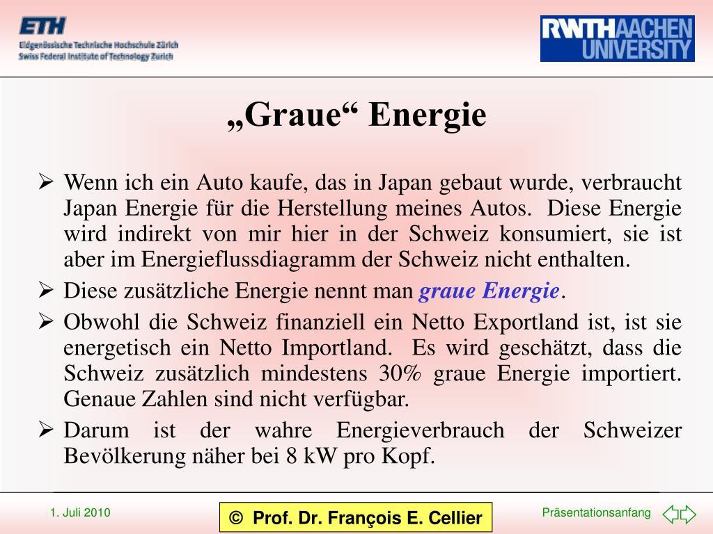 """""""Graue"""" Energie"""