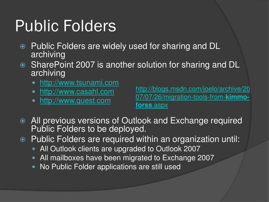 Public Folders