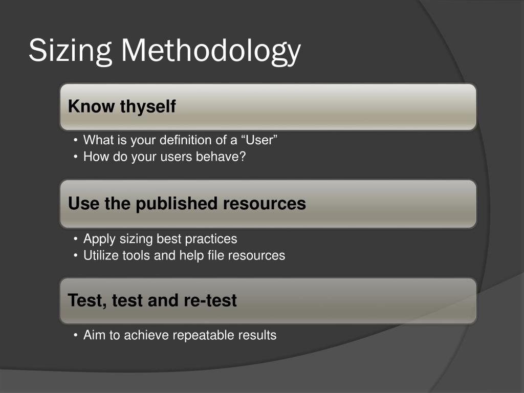 Sizing Methodology