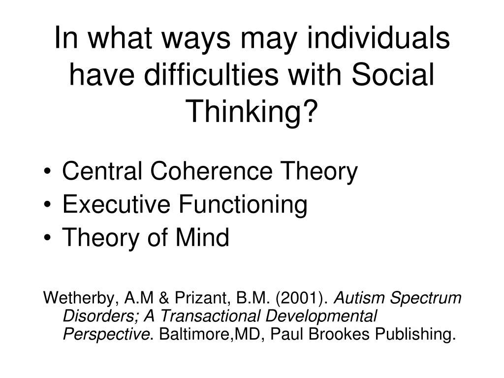 autism essay mind theory