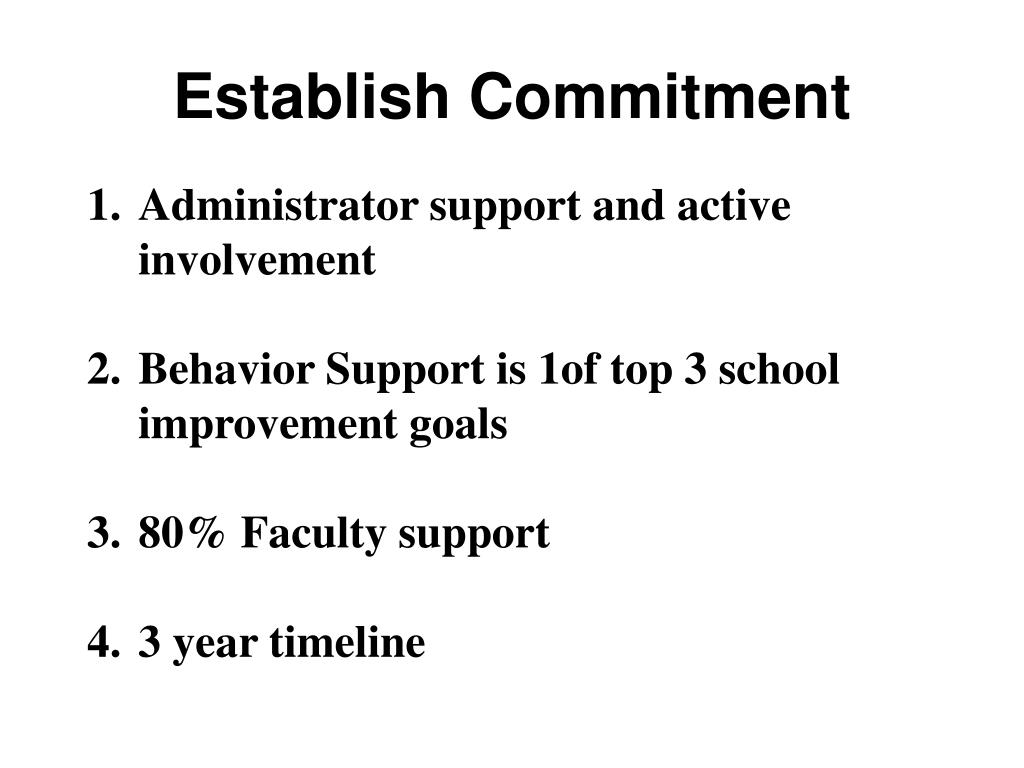 Establish Commitment