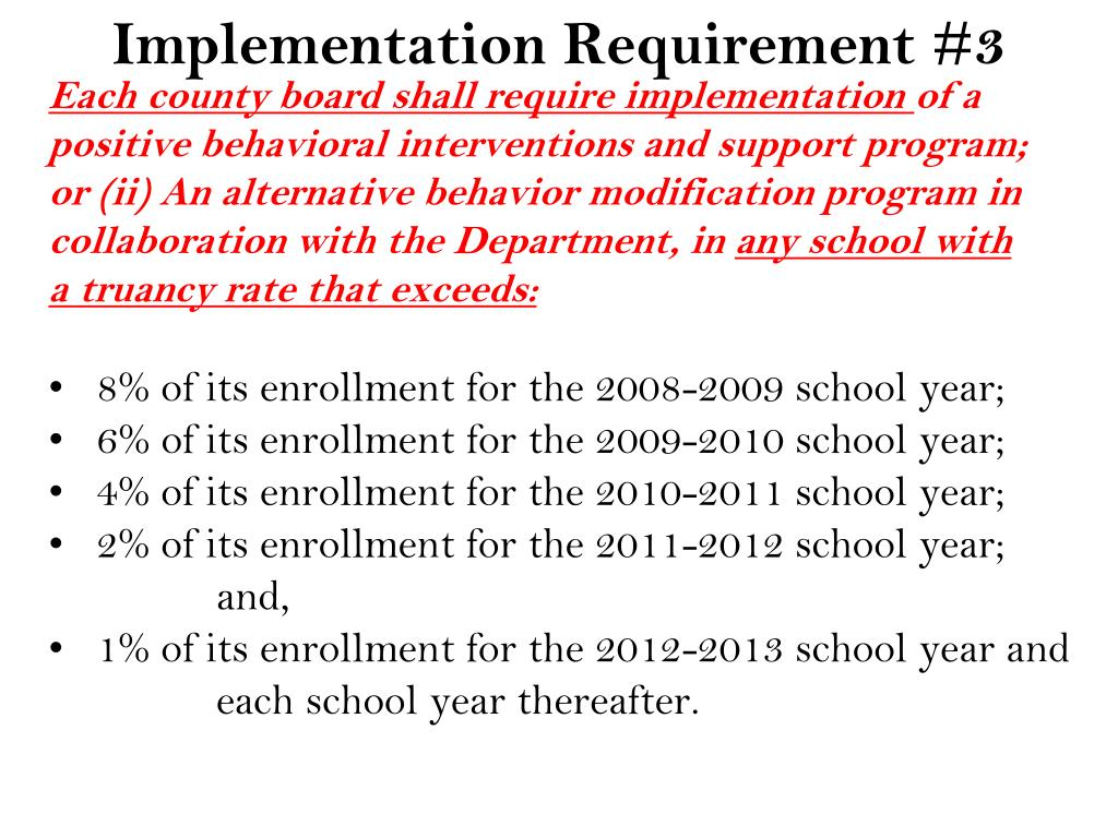 Implementation Requirement #3