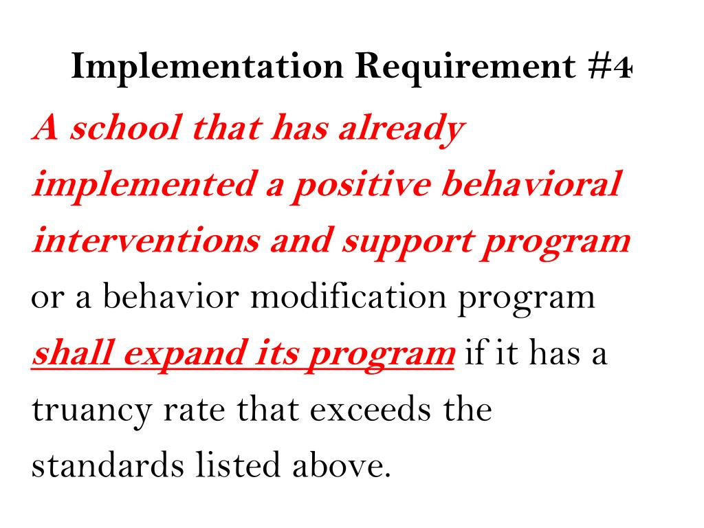 Implementation Requirement #4