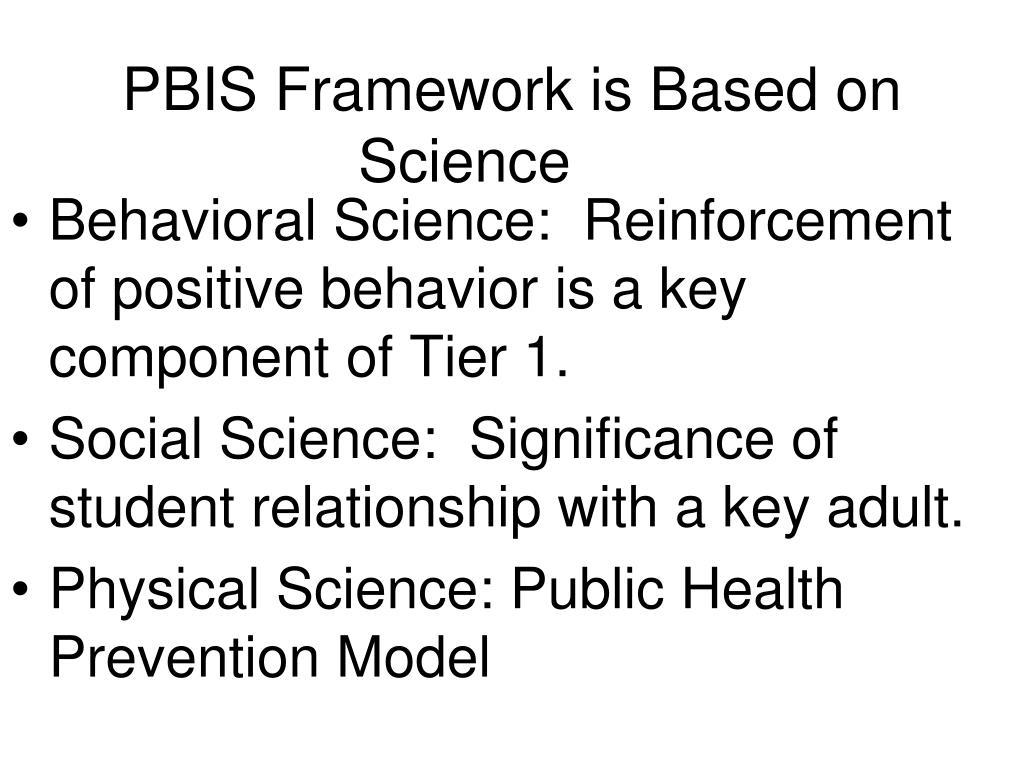 PBIS Framework is Based on Science