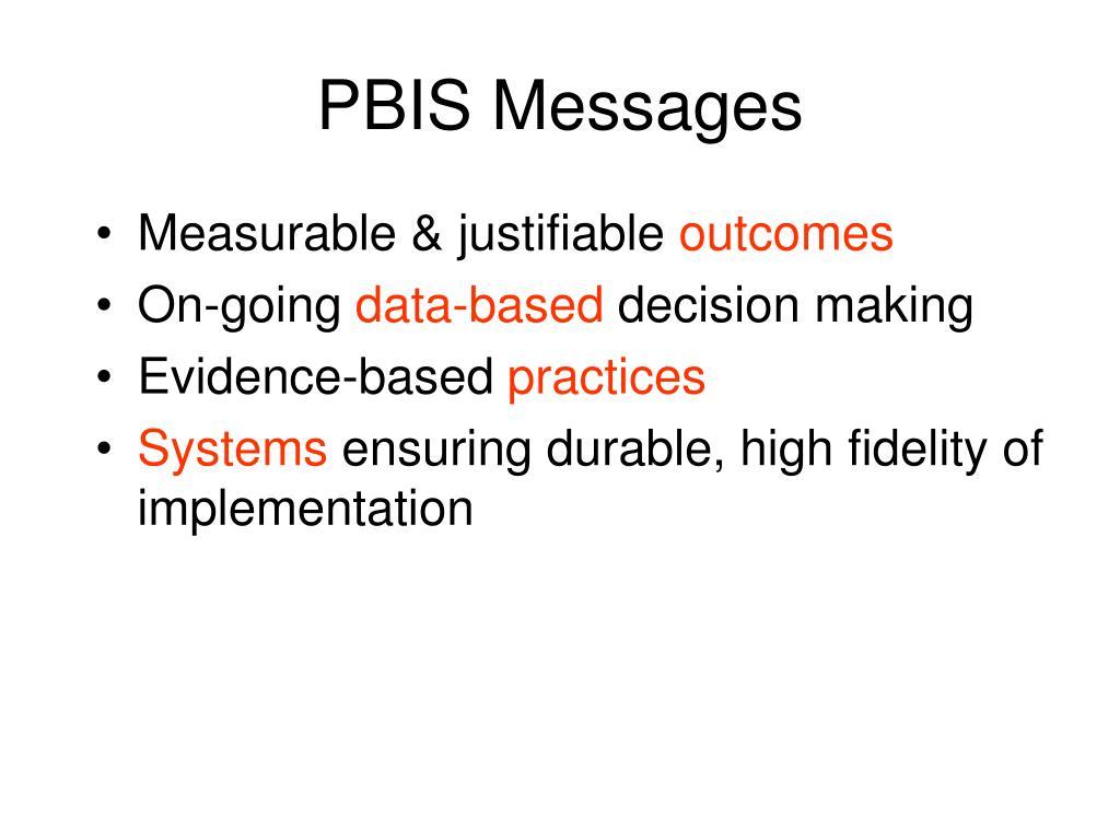 PBIS Messages