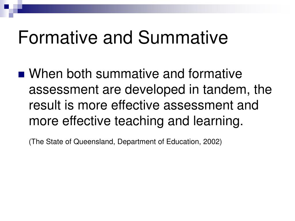 Formative and Summative