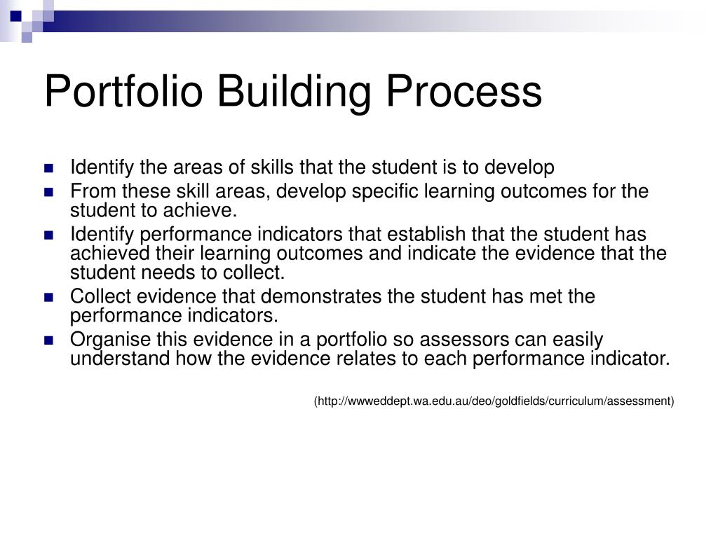 Portfolio Building Process