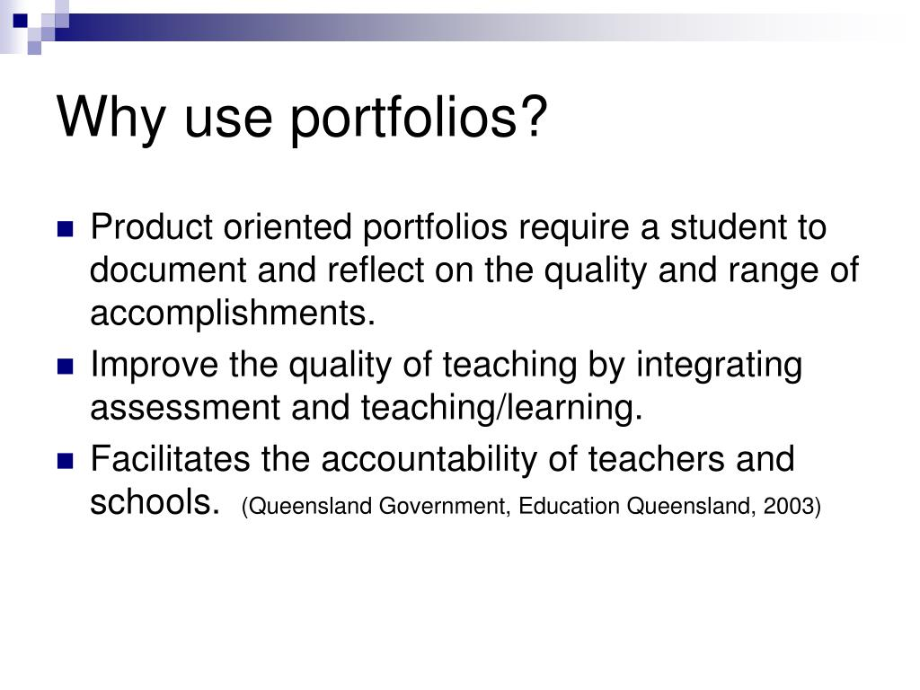 Why use portfolios?