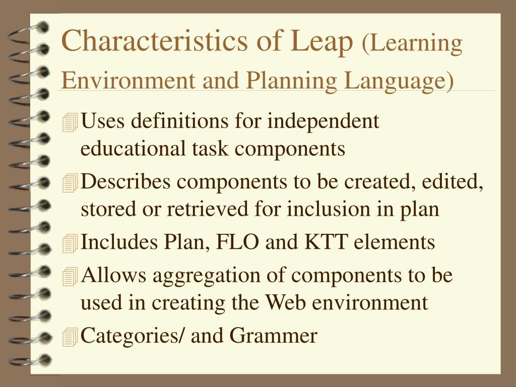 Characteristics of Leap