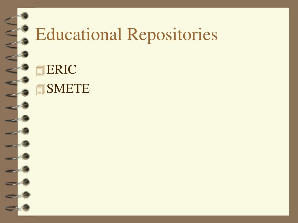 Educational Repositories