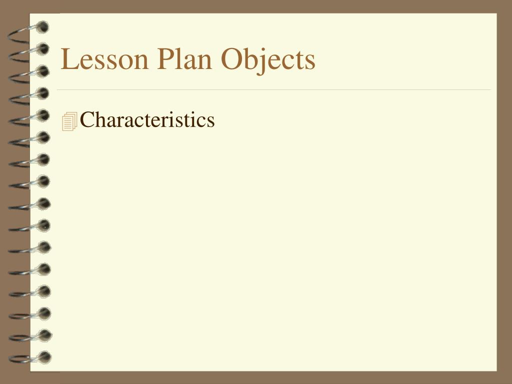 Lesson Plan Objects