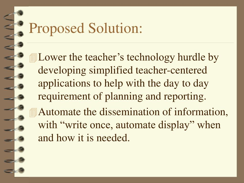 Proposed Solution: