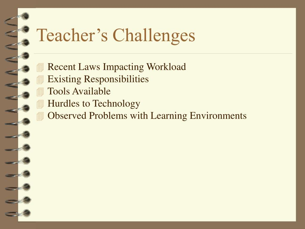Teacher's Challenges
