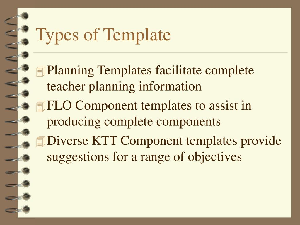 Types of Template