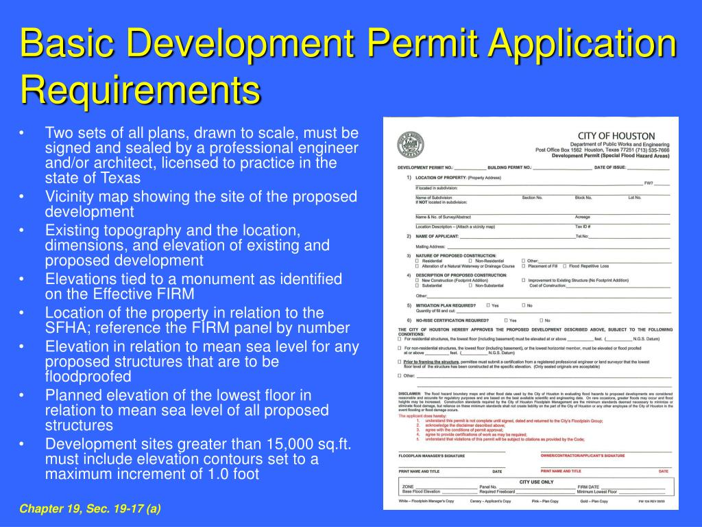 Basic Development Permit Application Requirements