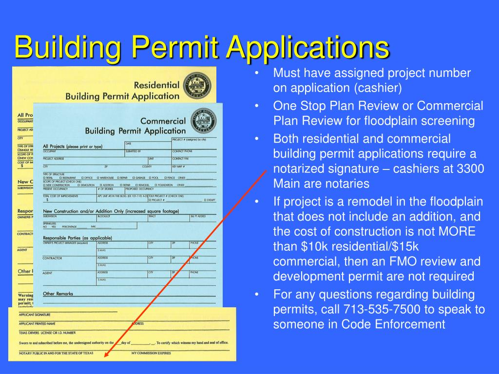 Building Permit Applications