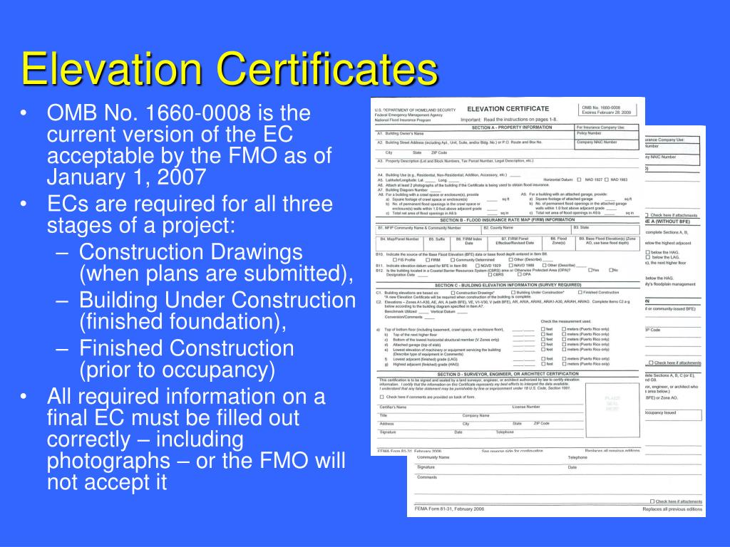 Elevation Certificates