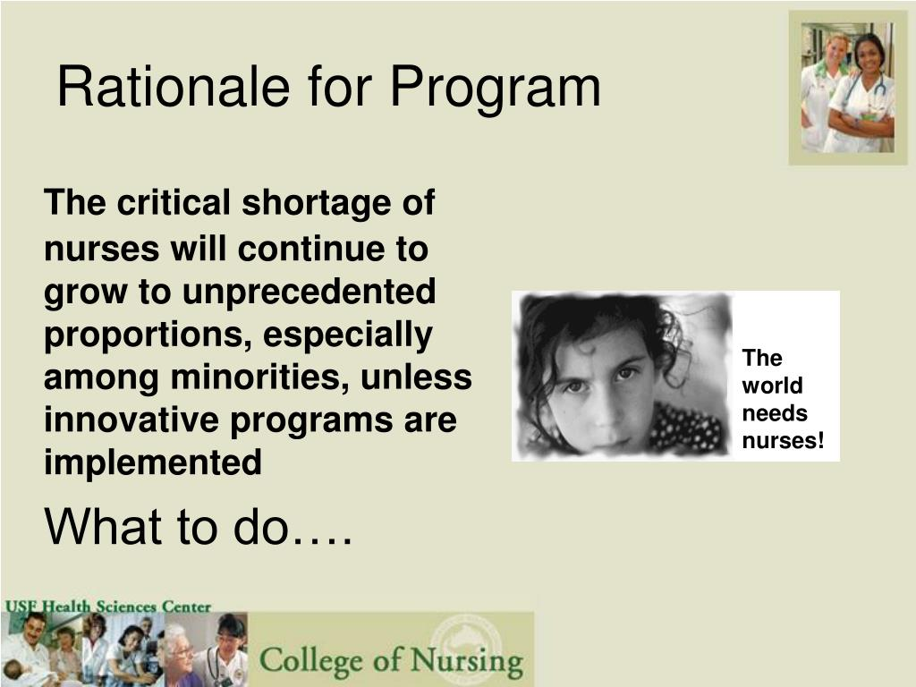 Rationale for Program