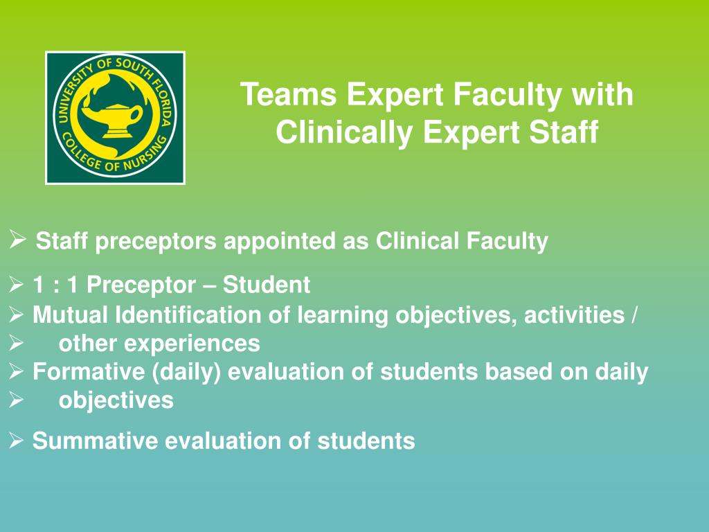 Teams Expert Faculty with Clinically Expert Staff