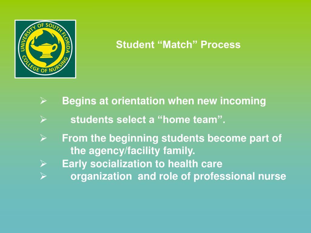 "Student ""Match"" Process"