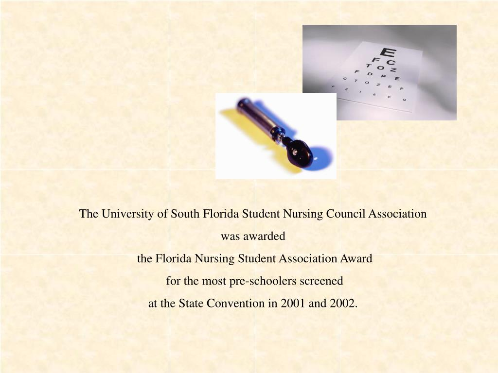 The University of South Florida Student Nursing Council Association