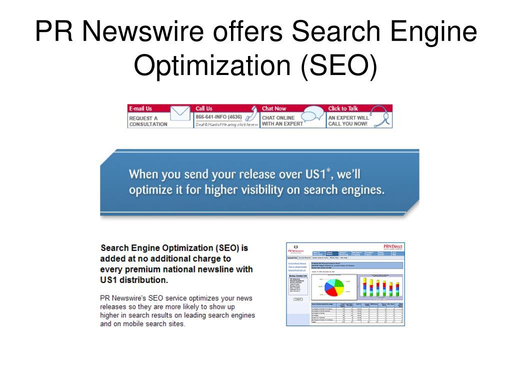 PR Newswire offers Search Engine Optimization (SEO)