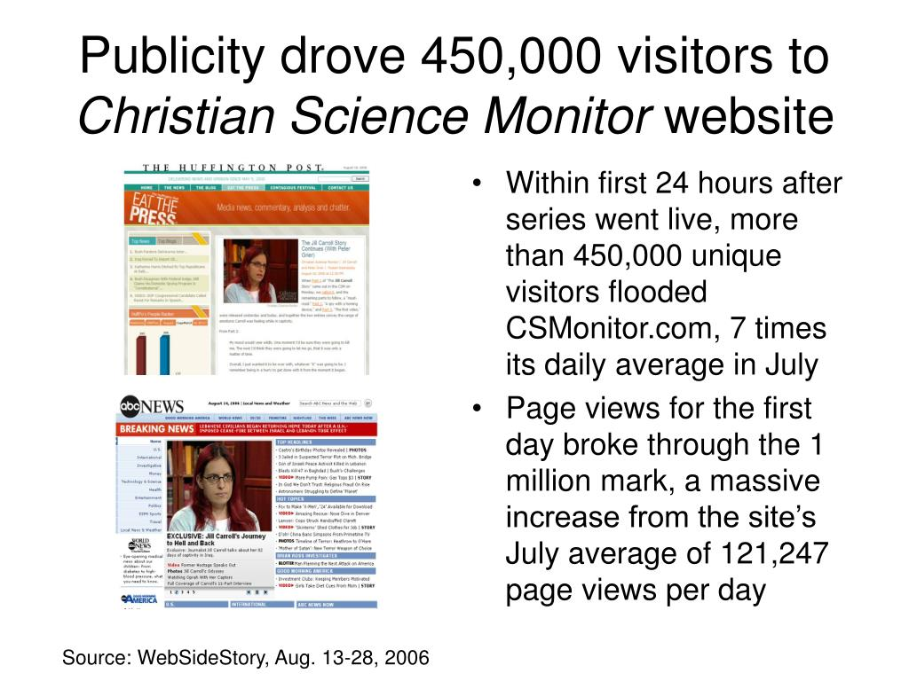 Publicity drove 450,000 visitors to