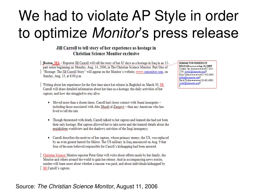 We had to violate AP Style in order to optimize