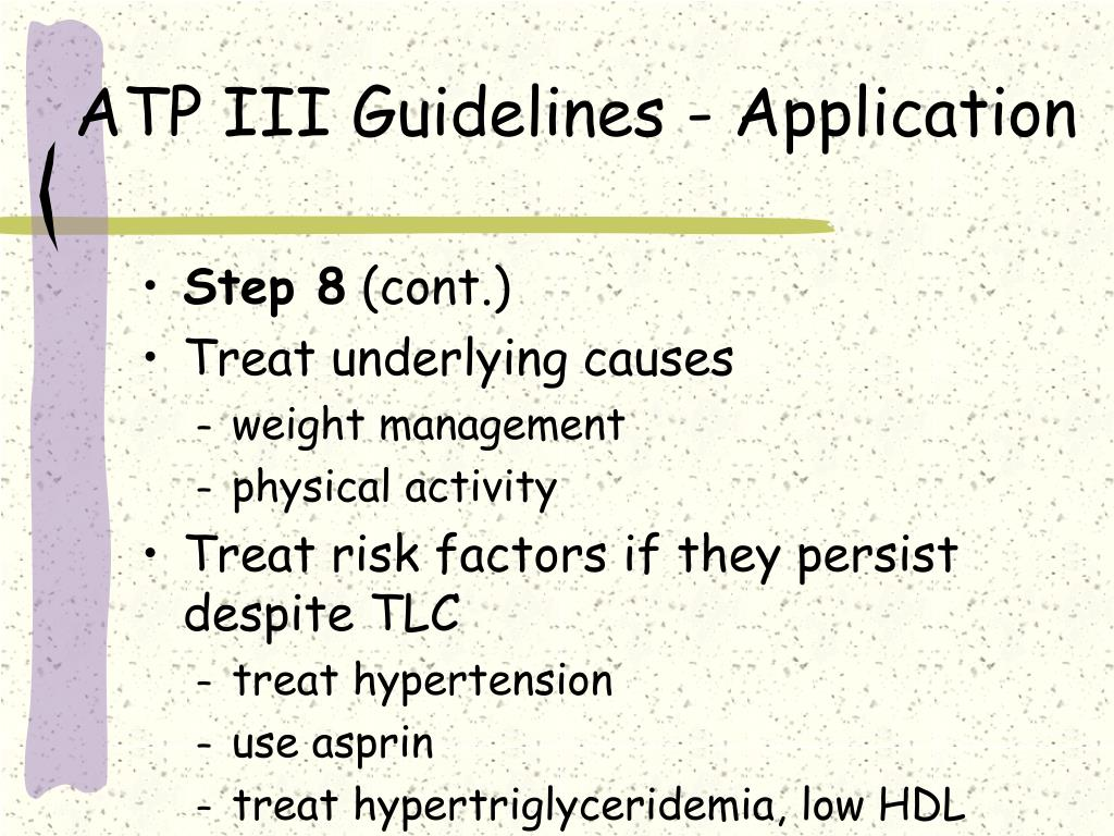 ATP III Guidelines - Application