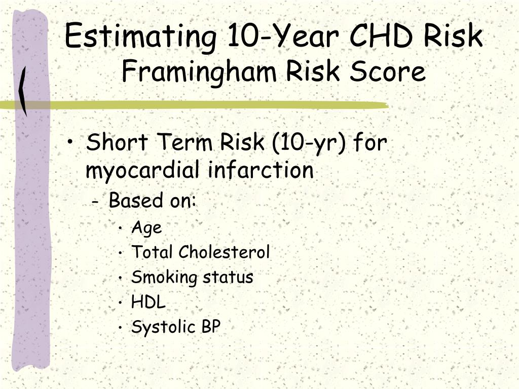 Estimating 10-Year CHD Risk