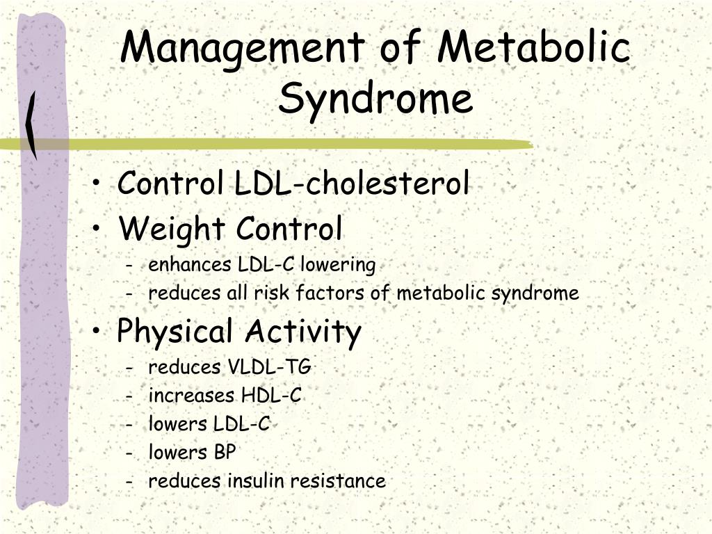 Management of Metabolic Syndrome