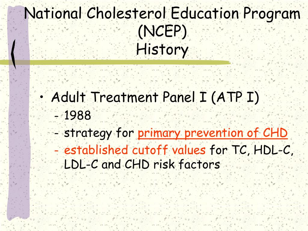 National Cholesterol Education Program (NCEP)