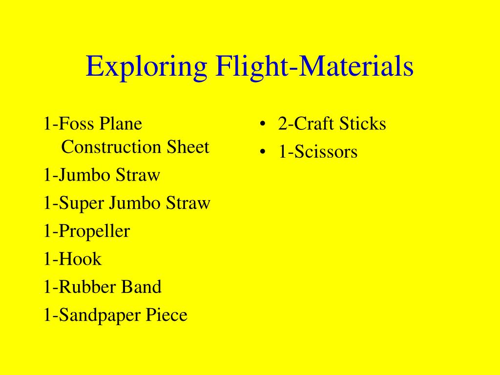 1-Foss Plane Construction Sheet